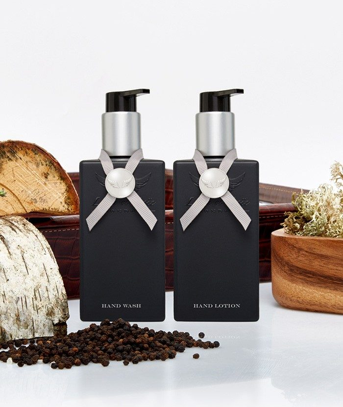 Moroccan wood & Fine leather Hand Wash & Hand Lotion set