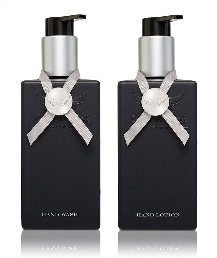 Moroccan wood & Fine leather Hand Wash & Hand Lotion set 4