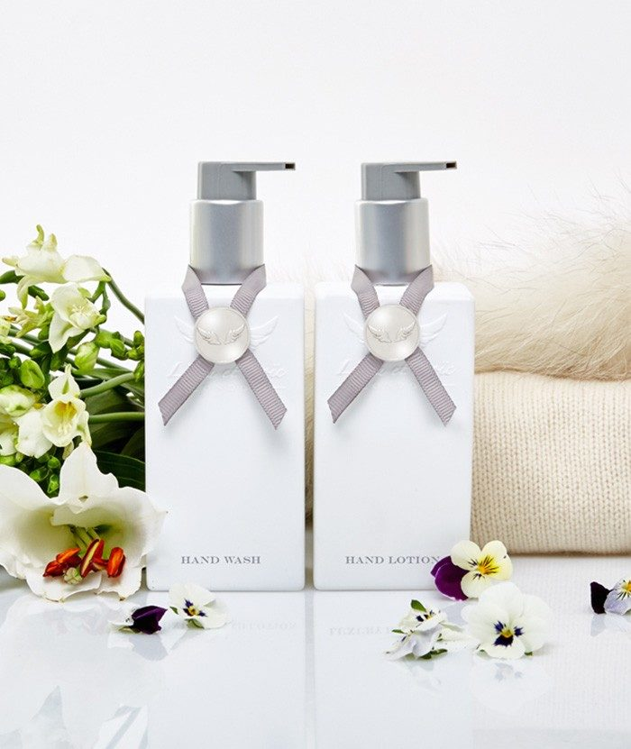 White cashmere Hand Wash & Hand Lotion set