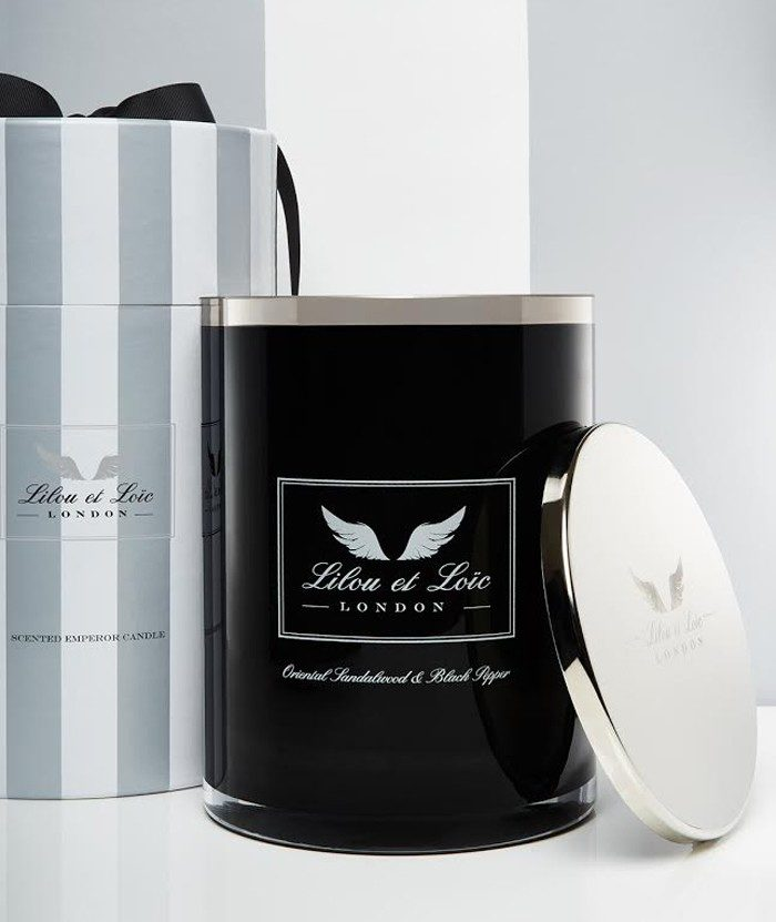 Oriental Sandalwood & Black Pepper Emperor Candle (Black)
